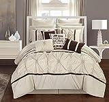 Chic Home Ashville 16 Piece Comforter Set, King, Off-White
