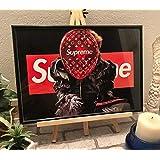 アートポスター 120 A4サイズ ルイヴィトン シュプリーム ポスター 額縁付き ポップアート