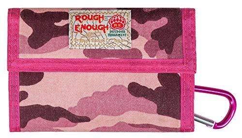 Rough Enough Canvas klassische Geldbörse., canvas, Pink Camo, 13,5 x 9 cm