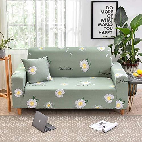 HFTYCC 1-4 plazas Funda de sofá Antideslizante elástica Funda de sofá Suave elástica Fundas Estampadas Florales Fundas de decoración del hogar Protector de sofá-4 plazas_Daisy