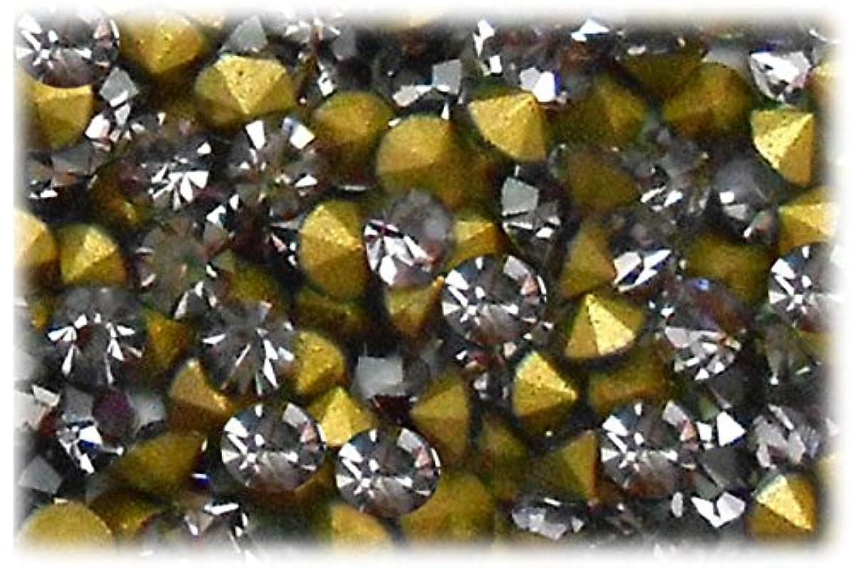 モーションまっすぐにするに向かってSHAREKI CRYSTAL Vカット (チャトン) ラインストーン グレー (ブラック ダイヤモンド ) SS3(144個入り)~SS36(17個入り) (SS5)