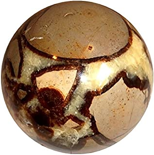 Satin Crystals Septarian Sphere Crystal Healing Ball Dragon Stone Fierce Passion, Power Energy Orb Premium P01 (1.8 Inch)