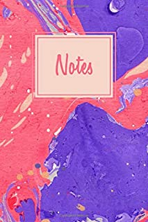 Notes: College Lined Journal, Blank Lined Notebook For Photographers With Mixed Marble Cover
