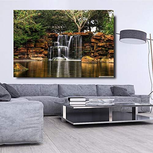 baodanla Nessuna Cornice Immagine di Paesaggio di Cascata, per Soggiorno Stampa HD su Tela Home Art Poster art40x60cm
