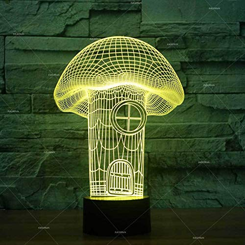 Only 1 Piece Mushroom House Modeling Led 3D Lamp Festival Sensor tive Lighting Table Lamp Table e Desk Lamp