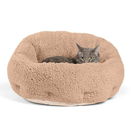 """Best Friends by Sheri OrthoComfort Deep Dish Cuddler (20x20x12"""") - Self-Warming Cat and Dog Bed Cushion for Joint-Relief and Improved Sleep - Machine Washable, Waterproof Bottom - For Pets Up to 25lbs"""