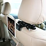 "Magnetic Car Headrest Mount,OHLPRO Phone Tablet Holder Car Backseat Seat Universal 360° Rotation Super Strong Magnet for iPhone iPad Samsung HTC Sony All 4""- 10"" Smartphones and Tablet"