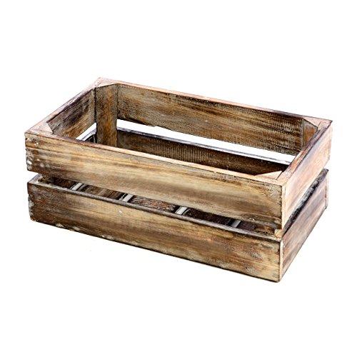 """divero Vintage Holzkiste braun geflammt Staubox Weinkiste Obstkiste Größe """"XS"""" 36 x 17cm Höhe 15cm Stapelbox Spielzeugkiste Regal-Box"""