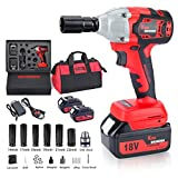 Best Impact Wrenches - Cordless Impact Wrench with 2 Battery, 18V 5,000mAh Review