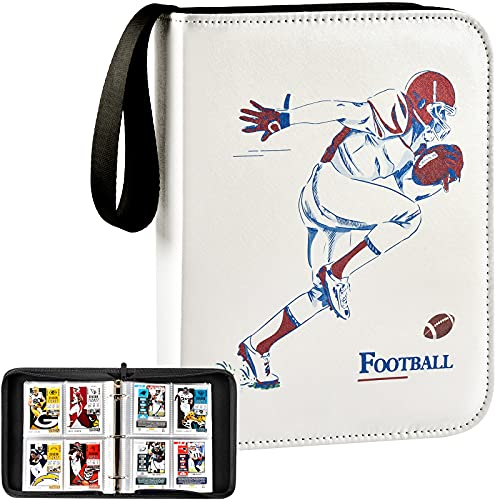 Football Baseball Cards Binder, Trading Card Sleeves Album Holder for NFL, 440 Pockets Sports Card Display Storage Protectors Collectors Fits for Basketball, PM TCG, MTG Cards(Folder Only)