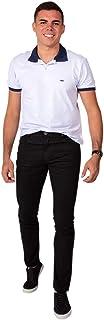 Calça Jeans Sarja Masculina Skinny Slim com Lycra