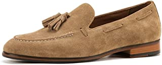 Shoes Comfortable Mens Shoes Set Foot Tassels Loafers Mens Business Casual Shoes Breathable Handmade high-Grade Leather England Fashion (Color : Coffee, Size : 8-UK)