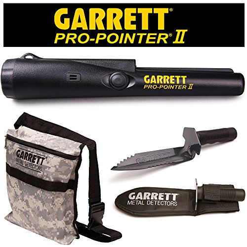 Garrett Pro Pointer II Two Metal Detector Pinpointer with Camo Digger's Pouch...