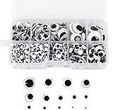 1000 Uds Wiggle Googly Eyes ojos de artesana autoadhesivos 5mm -18mm para manualidades de lbum de recortes DIY juguetes accesorios