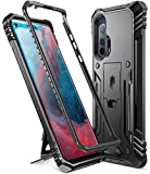 Poetic Revolution Series Designed for Motorola Moto Edge+ Plus Case, Full-Body Rugged Dual-Layer Shockproof Protective Cover with Kickstand Without Built-in-Screen Protector, Black