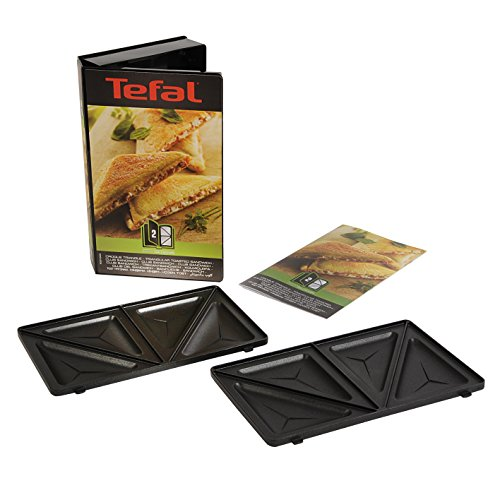 Tefal XA800212 Collection Set Snack Sandwich-Platte, dreieckig, Rezeptbuch mit 4,4 x 15,5 x 24,2 cm