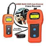 Orange U480 Auto OBD2 Scanner Check Car Engine Light Fault Code Reader OBD II Diagnostic Scan Tool