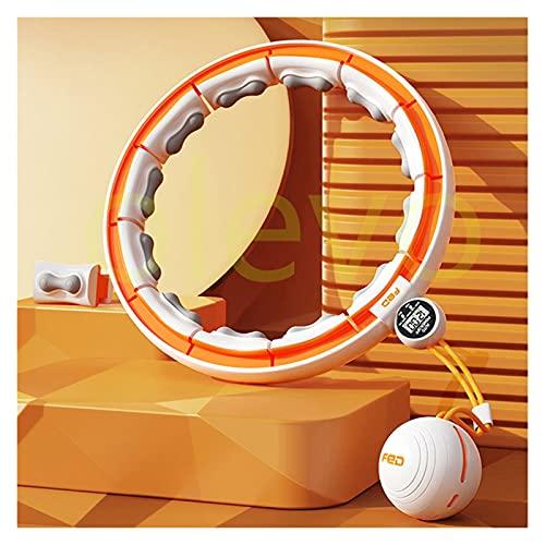Neumáticos ponderados de Hula Smart Counting Sport Circle Ajustable Hogar Fitness Body Body Ring Musculculation Ejercicio Cintura Delgada Adelgazante Aro (Color : Orange)