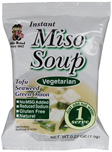 Miyasaka Freeze Dried Vegetarian Miso Soup, 0.27 Oz (Pack Of 12)
