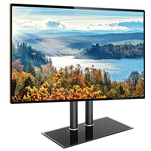 Base de TV de sobremesa Universal con Soporte para TV, para televisores de Pantalla Plana de Plasma LCD LED OLED 4K de 40 a 65 Pulgadas - Soporte de Montaje en TV Ajustable en Altura con Base de Vid
