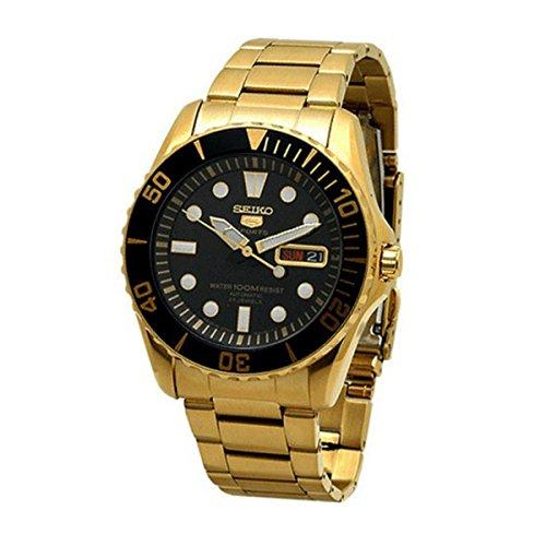 Seiko SNZF22J1 - Reloj para Hombres, Correa de Metal Color Dorado