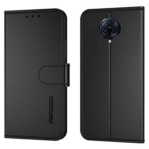 FMPCUON Handyhülle Kompatibel mit Vivo Nex 3/Nex 3 5G/Nex 3S 5G,Premium Leder Flip Schutzhülle Tasche Hülle Brieftasche Etui Hülle für Vivo Nex 3/Nex 3 5G/Nex 3S 5G,Schwarz