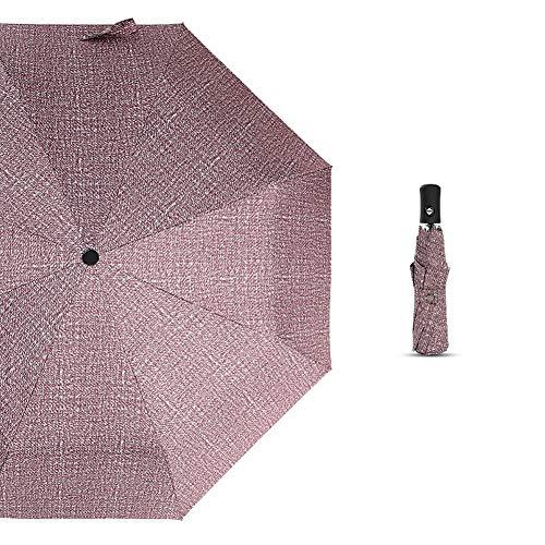 Opvouwbare paraplu, handmatige/automatische draagbare parasol parasol zonnescherm winddicht, regendicht en 99% UV-bescherming lichtgewicht wandelen strand paraplu-automatisch-koffie