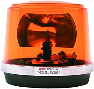 Federal Signal 443112-02 Class 1 Model 100 Halogen Beacon, Permanent Mount with Dome, CAC Title 13, 95 FPM, Amber