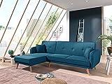 Bestmobilier - Folke - Canapé d'angle réversible scandinave Convertible en Tissu - 239x85x158cm