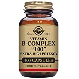 "Solgar Vitamin B-Complex ""100"" Extra High Potency Vegetable Capsules - Pack of 100"