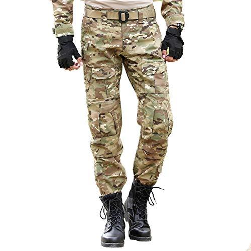 BWBIKE Militärische Taktik Hose für Männer mit Knieschützern Kampf Arbeitshosen (CP, 34 (Taille: 34