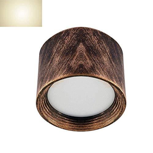 Retro montado en la pared LED Downlight Máscara de alta transmisión sin orificio de apertura Luz de techo Hotel Restaurante Tienda de ropa Interior del hogar Focos montados en la superficie
