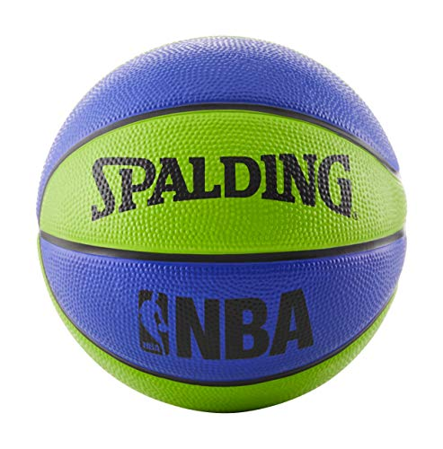 Save %35 Now! Spalding NBA Mini Rubber Outdoor Basketball, Blue/Green
