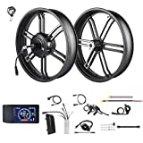 BAFANG 48V750W Motor Kit Integrated Rear Drive Hub Motor & Front Wheel E-Bike Conversion Kit with LCD Dispaly for 20 Inch Fat Electric Bicycle (500C Display)