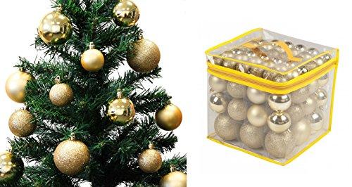 Lot 77 boules de Noël 4/6/8cm - Noel Décoration Sapin - OR - 335