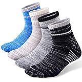 Men's Hiking Walking Socks, FEIDEER 4 pack Wicking Cushioned Outdoor Recreation Crew Socks...