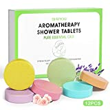 Shower Steamers Tablets, Aromatherapy Shower Vapor Tablet-Set of 12 Bath Bombs Infused with Pure Essential Oils for Home Vaporizing Spa & Stress Congestion