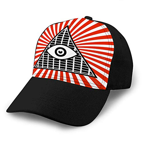 ncnhdnh Adults Football/Soccer Sports Baseball Cap (One Size) Symbolic Pyramid Graphics with...
