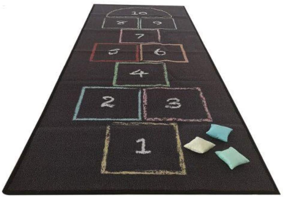 WonderWise Kid's Recommended Classic Chalk Hopscotch Mat Rug Floor Activity