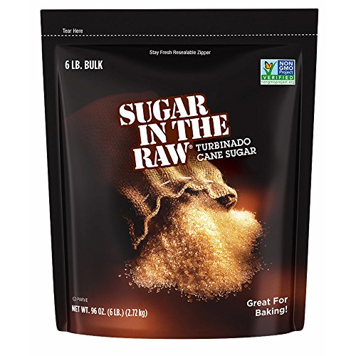 Sugar In The Raw Turbinado Cane Sugar, Made Using 100% Natural Pure Cane Sugar, 6 lbs