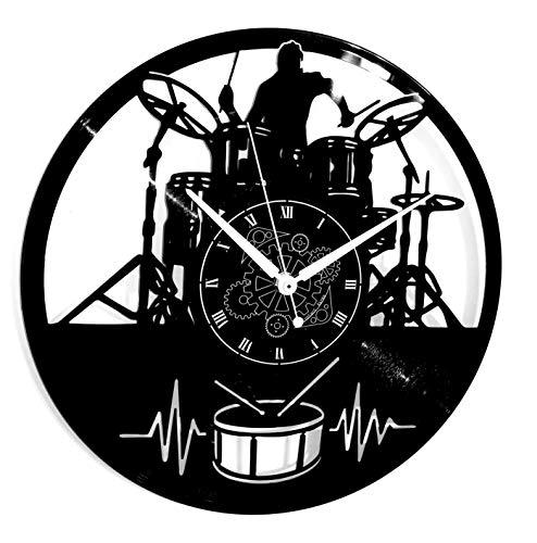 Instant Karma Clocks Wandklok van vinyl voor feesten, cadeau-idee, vintage, handgemaakt, gitaar, muziek keyboard, accu, muziek, rock, metaal
