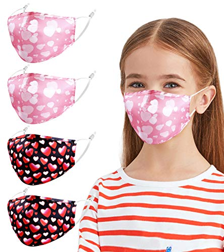 Gyothrig Face Masks Valentine Day, Reusable Cloth Breathable Washable Adjustable Happy Silk Holiday Forever Love Funny Designer Cotton Cover mascaras para niños Sports