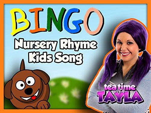 Bingo Nursery Rhyme Kids Song on Tea Time with Tayla