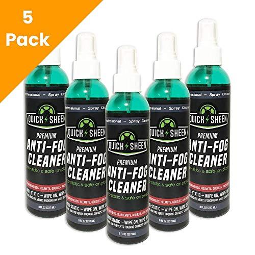 Quick Sheen Anti-Fog Spray | Prevents Fogging of Glass or Plastic Windows, Medical Face Shields, Eyeglasses, Mirrors, Scopes, Swim Goggles, Ski Masks, Binoculars | Safe on Lexan