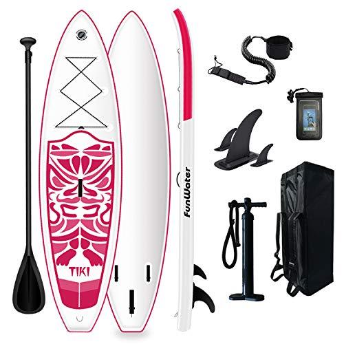 Tuxedo Sailor Stand Up Paddle Board Ultraligera, 320 x 84 x 15 cm, accesorios completos, remo ajustable, bomba, mochila de viaje, correa, bolsa impermeable, hasta 150 kg de capacidad de carga