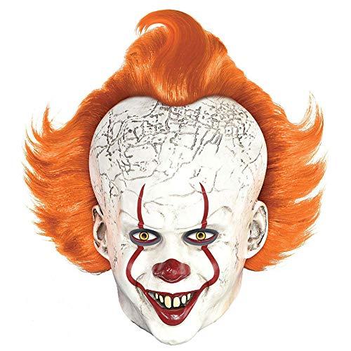YA&NG Halloween-Maske Film Pennywise Clown Latexmasken Voll Head Helm Erwachsene Kostüm für Halloween Partei-Abendkleid Merchandise Accessories,A