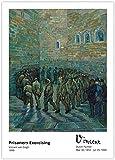 Arte de pared de Van Gogh, pinturas famosas, prisioneros, ejercicio, impresiones en lienzo, ilustraciones, póster vintage, imágenes para sala de estar, decoración de galería, 40x60cm sin marco