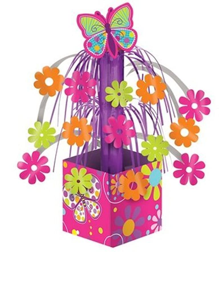 Creative Converting Butterfly Sparkle Mini Foil Cascade Centerpiece (2-Pack)