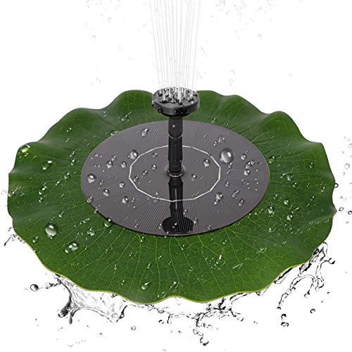 Haokaini Floating Lotus Leaf Brushless waterpomp, op zonne-energie werkende waterpomp, vogel bad vijver zwembad tuin decor