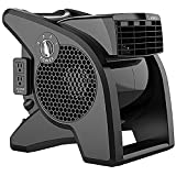 Lasko U15617 High Velocity Pro-Performance Pivoting Utility Fan for Cooling, Ventilating,...